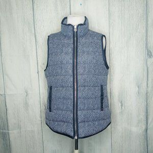 Tommy Hilfiger Navy & White Puffer Vest, Medium